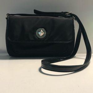 Kate Spade black nylon and leather purse